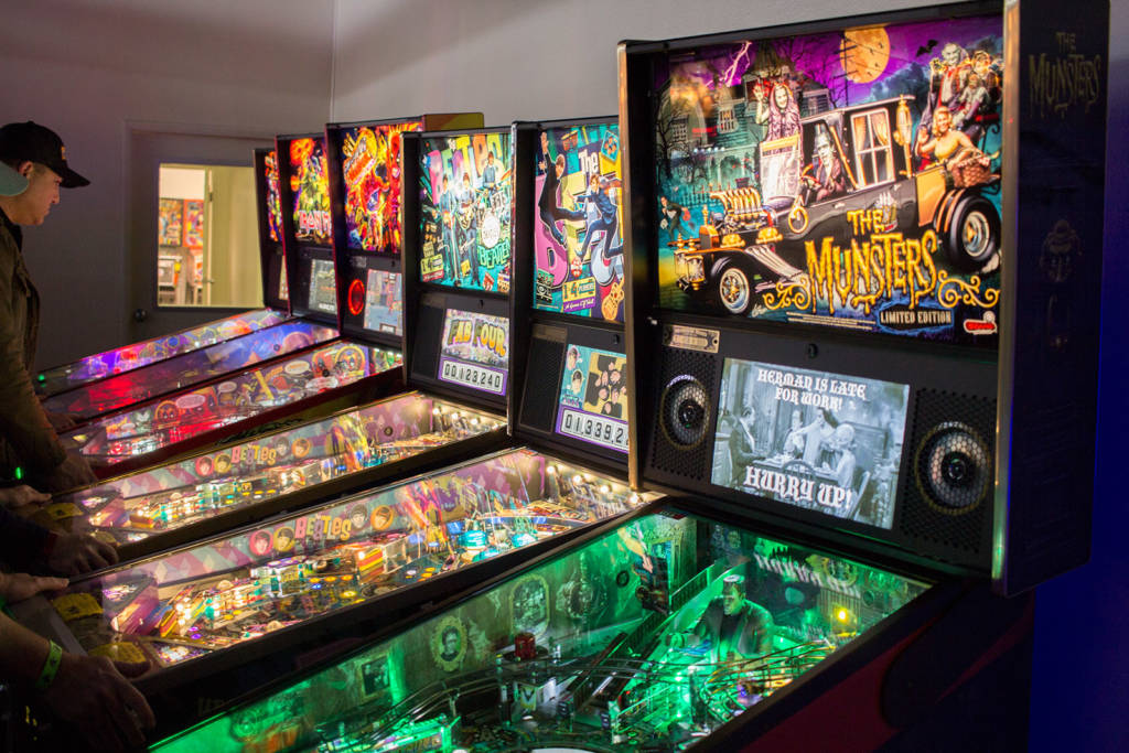 The current title - The Munsters - in LE form, along with Gold and Platinum The Beatles machines, Deadpool and more