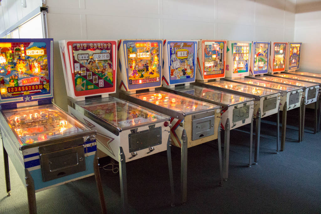 Nine wedgehead machines by Gottlieb