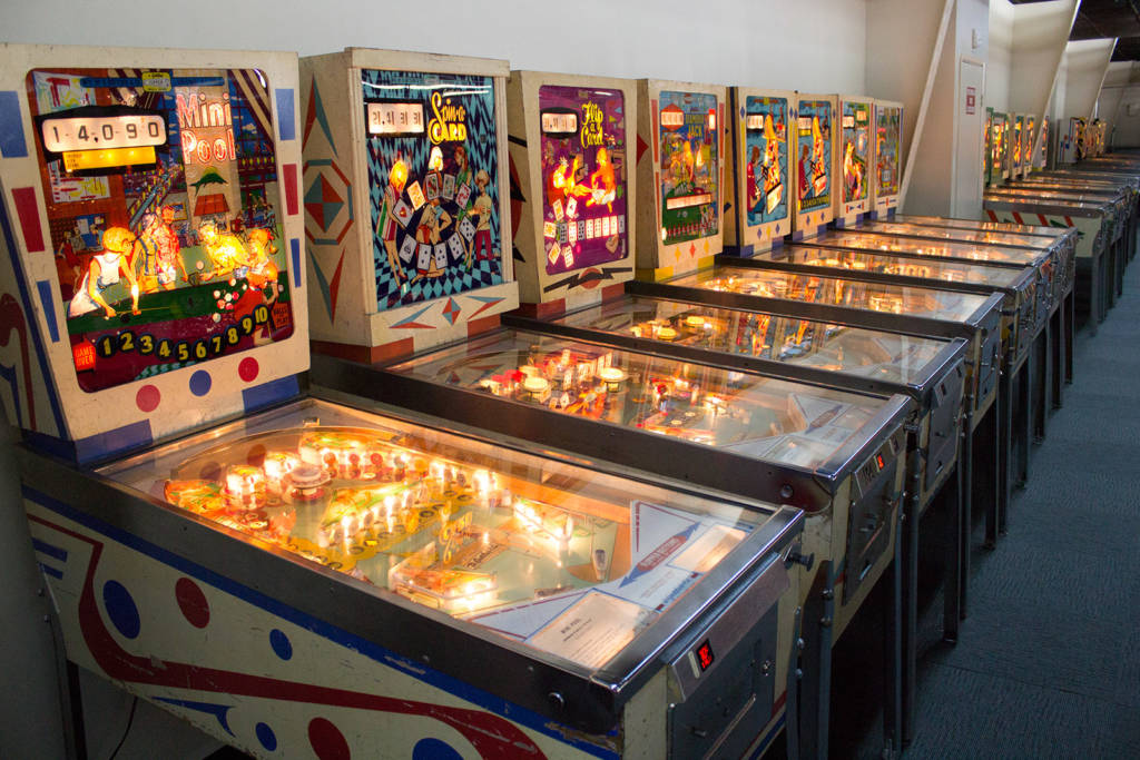 Another row of classic Gottlieb machines