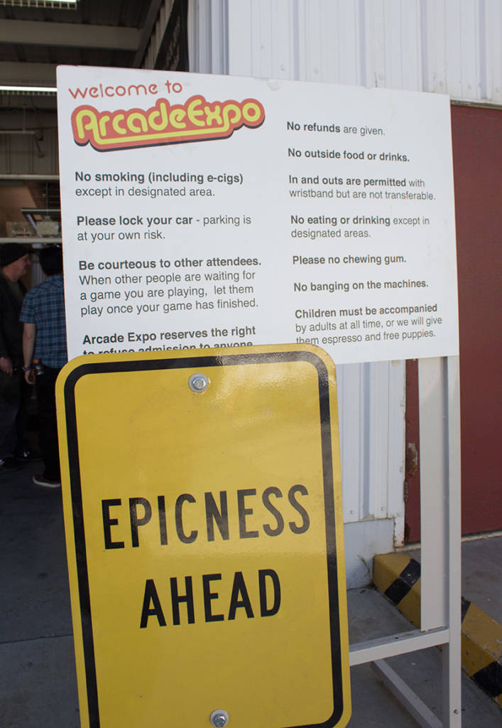 Arcade Expo rules to enjoying the epicness