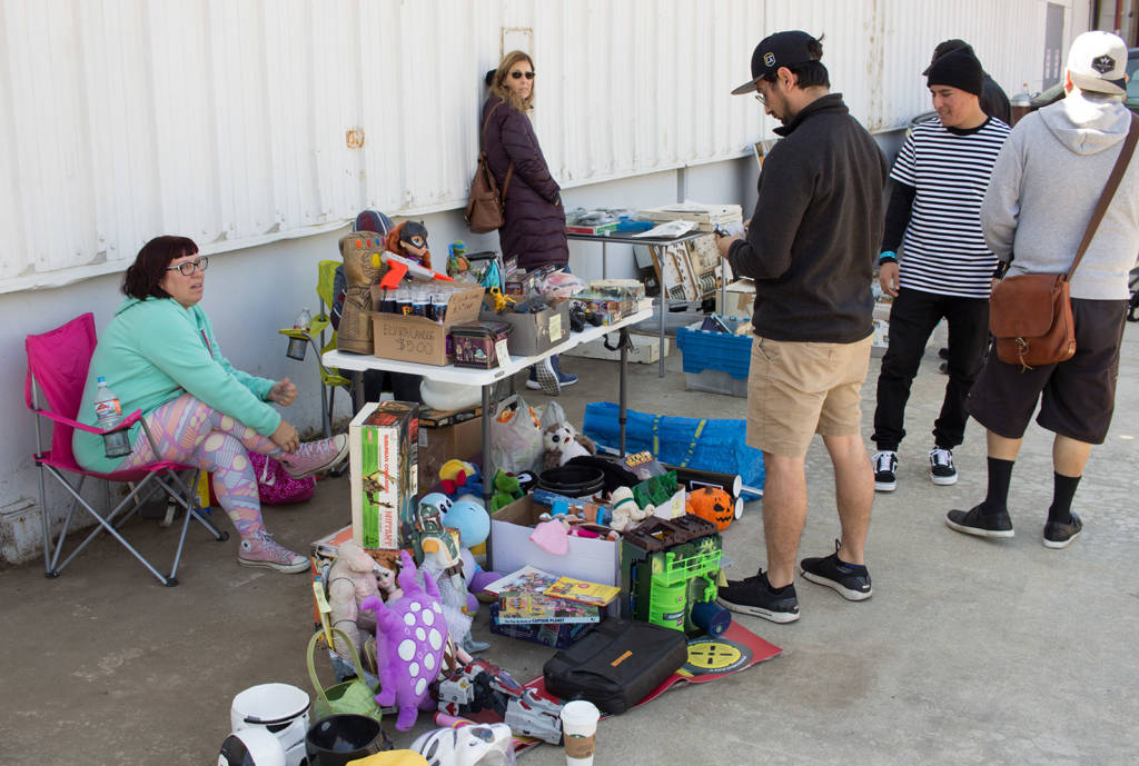 Some of the parts available at the swap meet