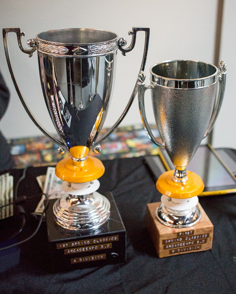 Trophies for the Spring Classics A and B divisions
