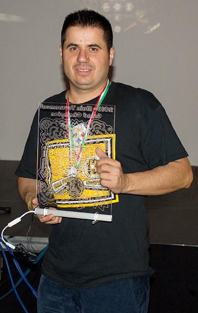 Winner of the Hungarian Pinball Open 2016, Julio Vicario Soriano