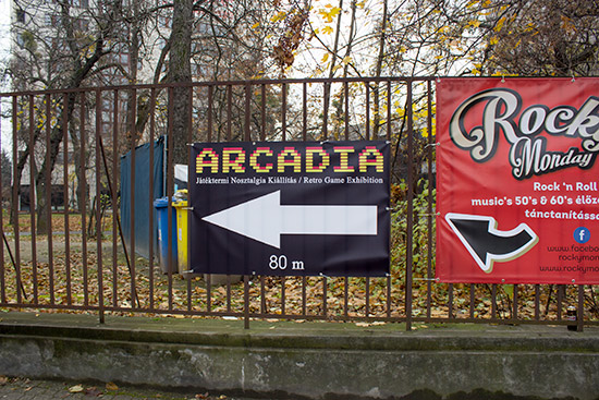 The Arcadia show banner