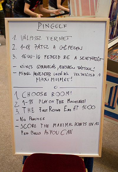 Instructions for the pingolf tournament