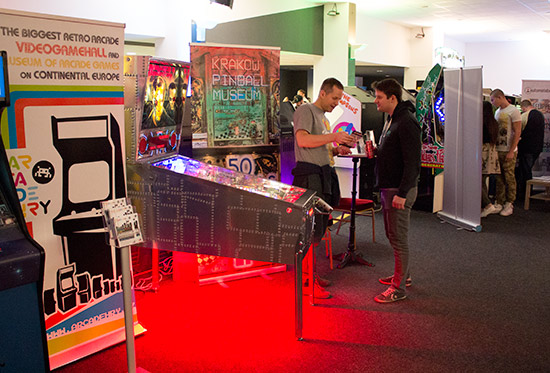 The Krakow Pinball Museum had a stand
