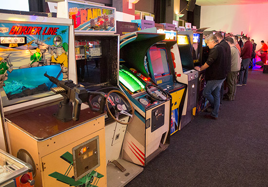 Video games and other skill games in the free-play hall
