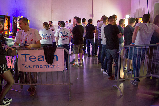 The Team Tournament area