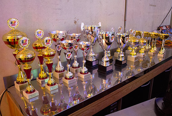 Trophies for all the tournaments