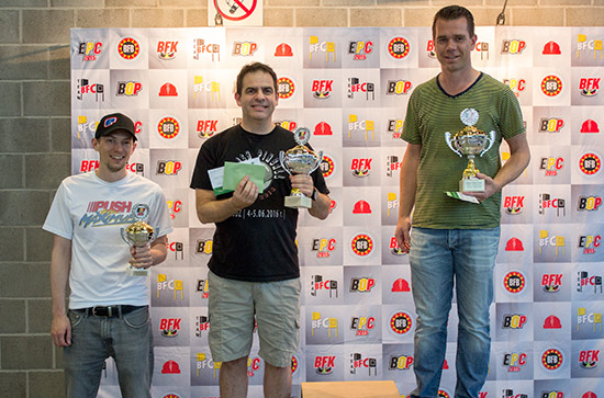 Cayle George (4th), David Mainwaring (3rd) & John van der Wulp (2nd)