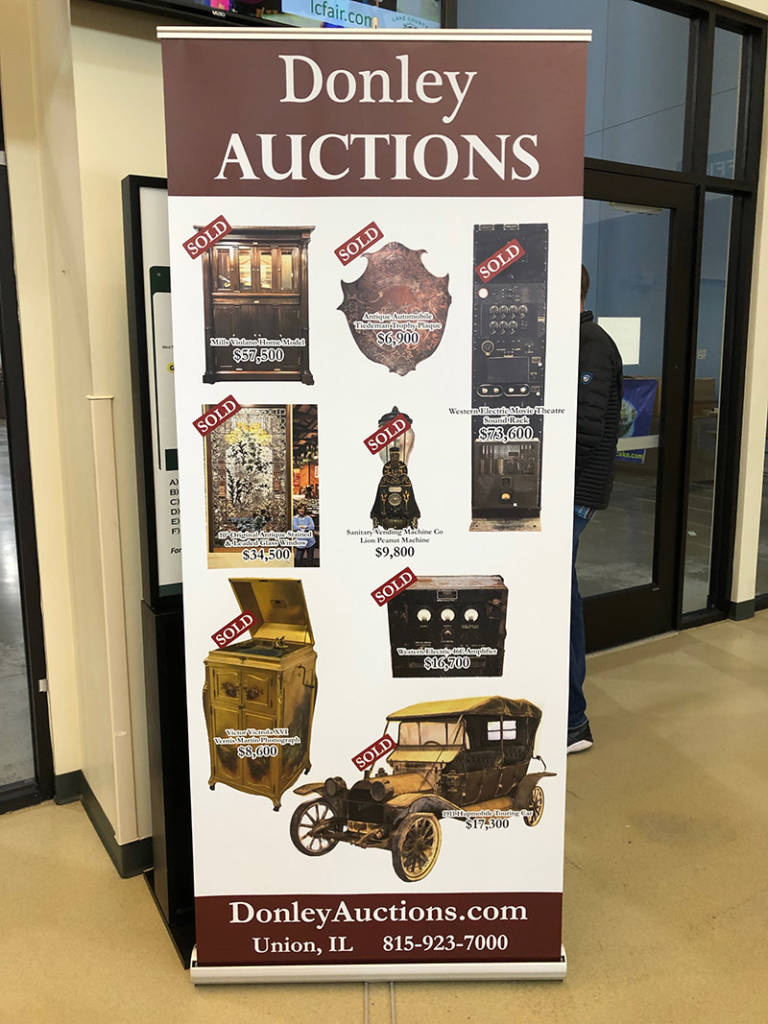 Donley Auctions held their auction on Friday evening