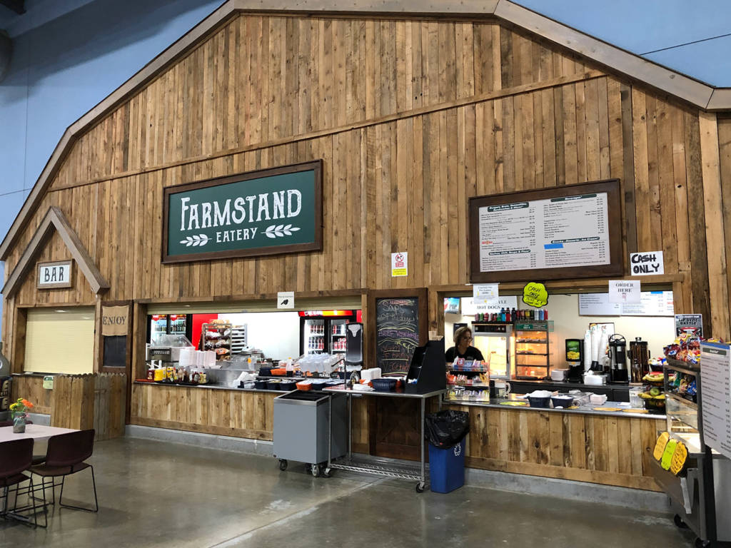 A wide range of snacks, meals and beverages at the Farmstead Eatery