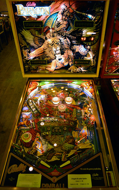 1979 Bally Paragon, European version with only 3 flippers