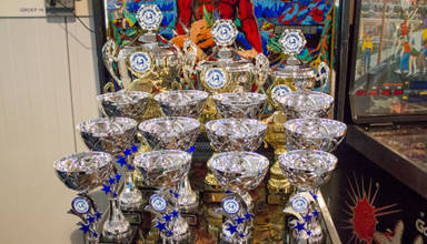 Trophies at the Dutch Pinball Masters 2016