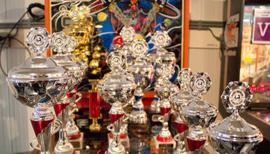 Trophies for the Dutch Pinball Masters