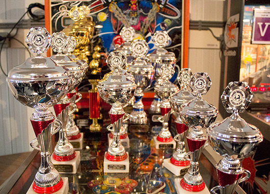 Trophies for the tournaments