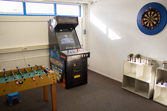 When it's too much pinball, enjoy darts, video games or table football/foosball/babyfoot