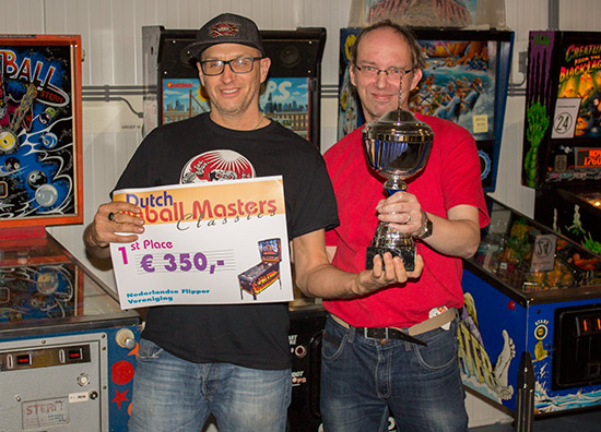 Dutch Pinball Masters Classic Tournament winner, Rich Mallett
