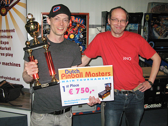 Dutch Pinball Masters 2017 winner, Cayle George