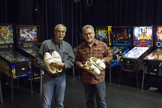 Roger and Greg with their clogs