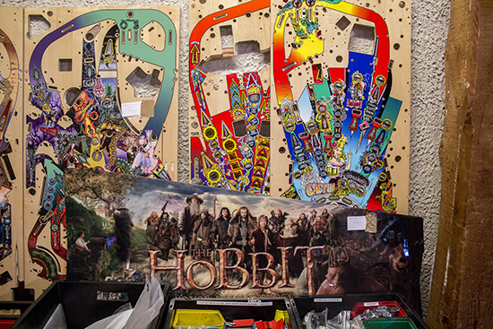The Hobbit cabinet side art and more playfields