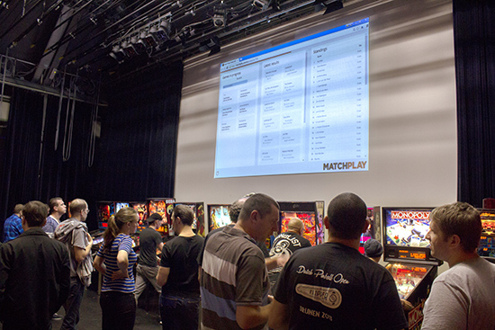 Matches and results were shown on the screen using the MatchPlay system