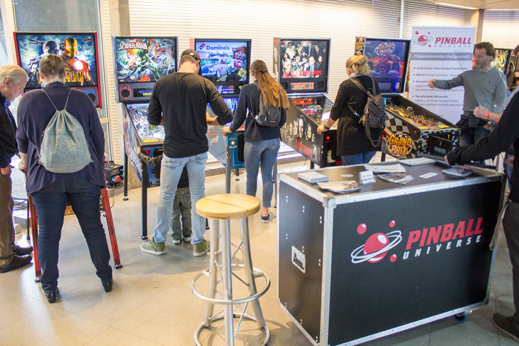 Pinball Universe were promoting their machine and parts sales