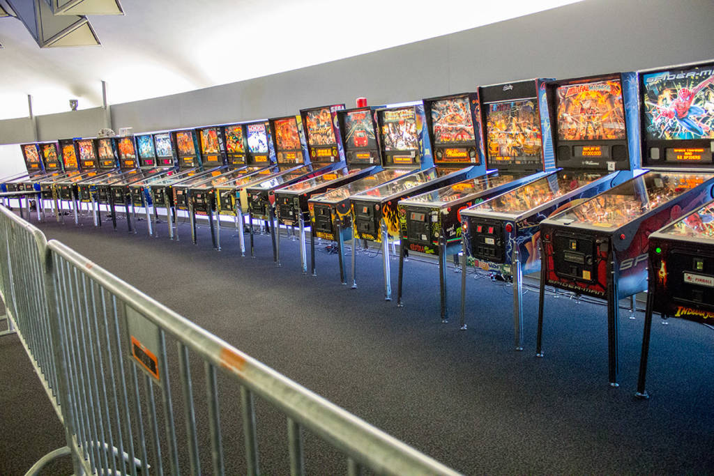 The second tournament area's machines