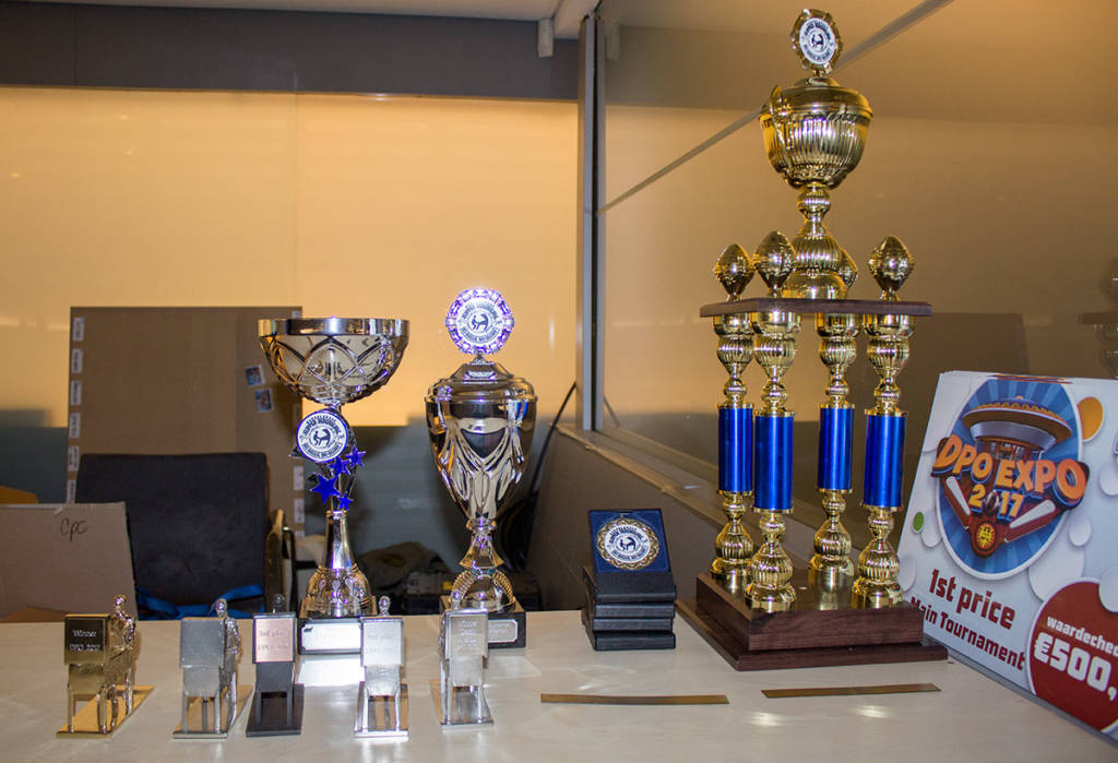 Trophies for the tournament winners