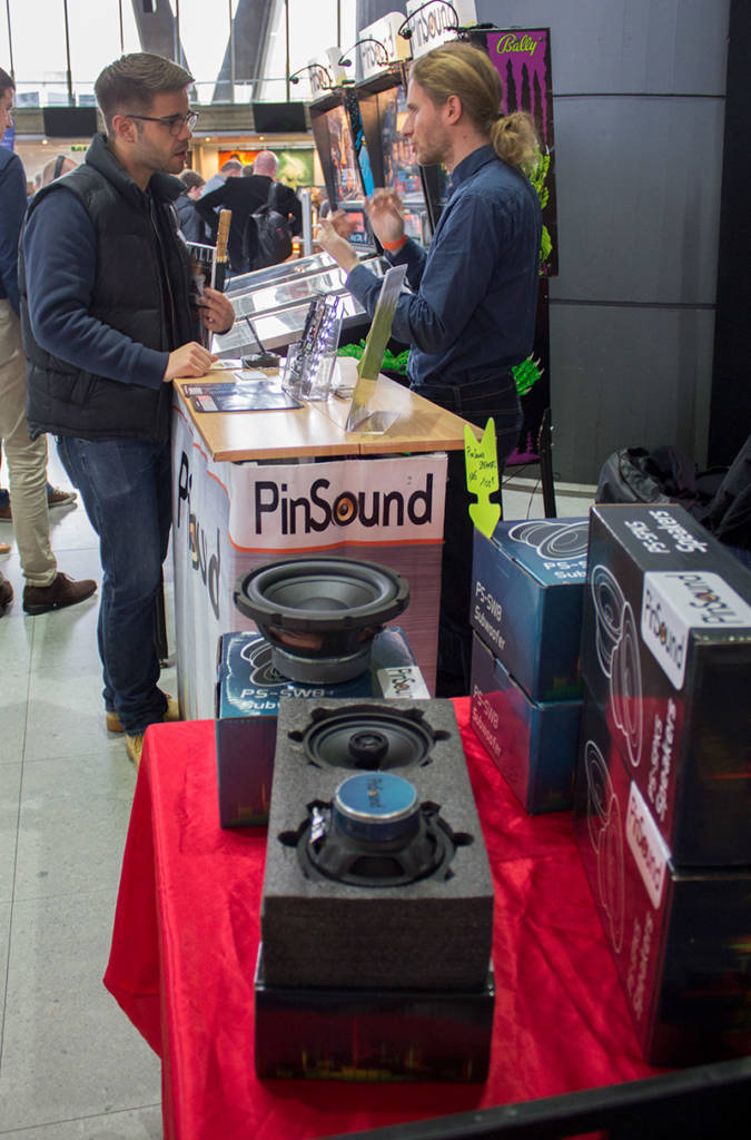 Pinsound had their speakers and sound boards available