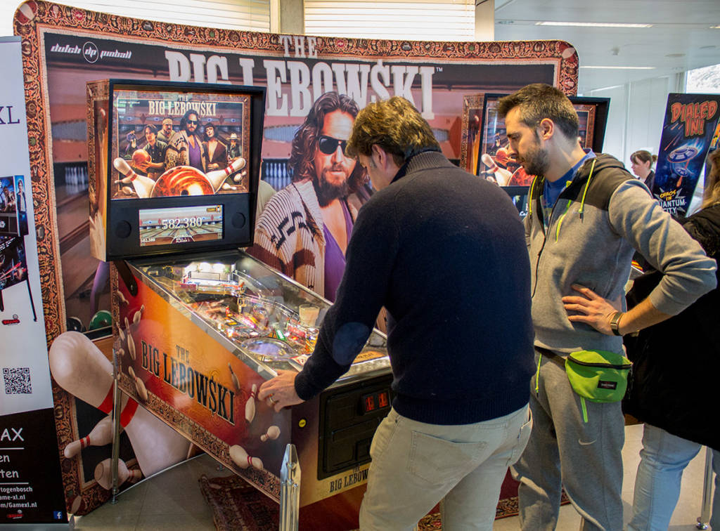 Two The Big Lebowski games - one was from Dutch Pinball's new contract manufacturer Xytech