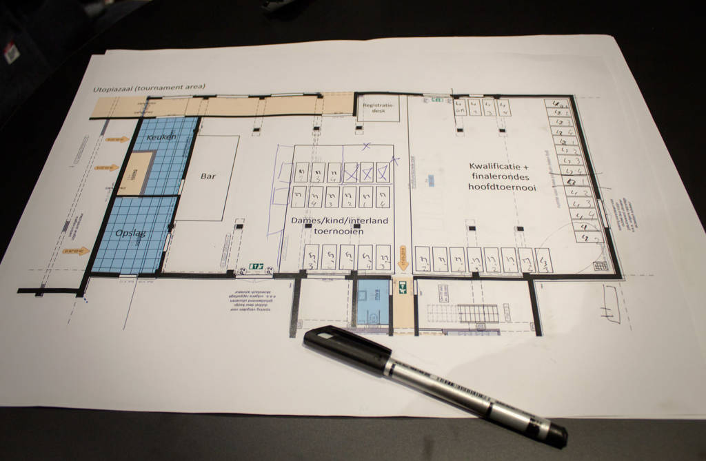 The layout for the tournaments room