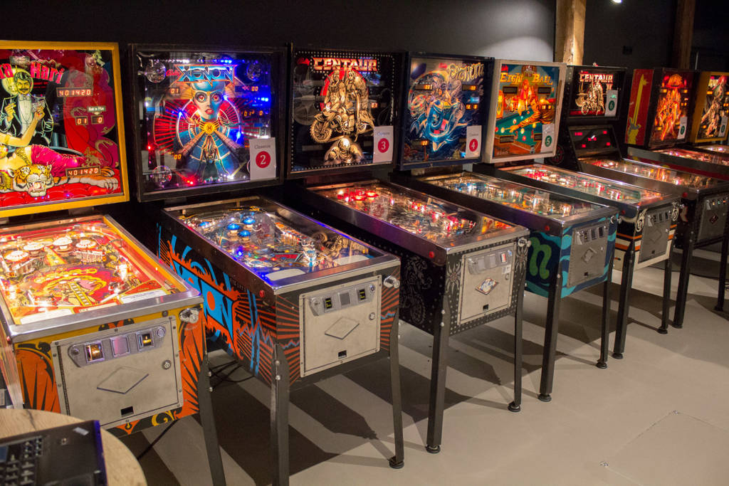 The bank of Classics Tournament machines