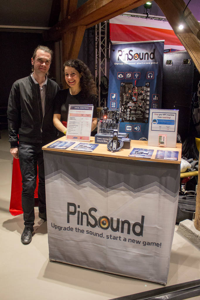 Nicolas and Paola at the PinSound booth