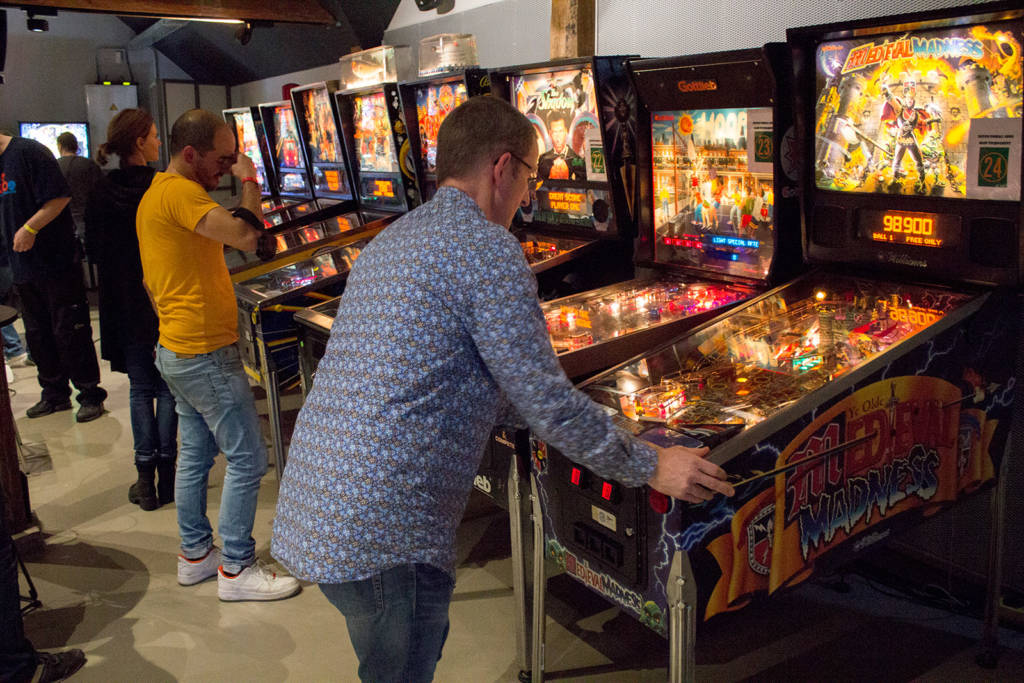 Qualifying in the Dutch Pinball Open