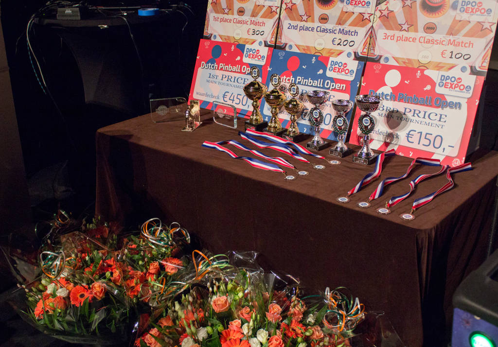 Trophies, cash prizes and medals for the winners