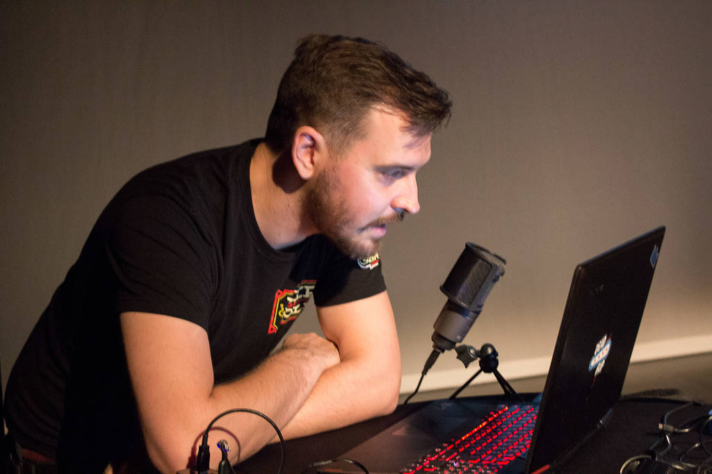 Jack Danger streamed and commentated on the finals