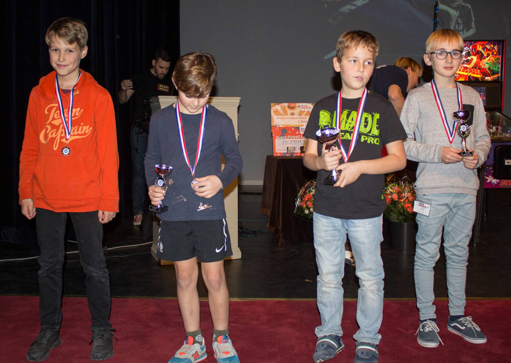 The top four in the Junior Division - Linus (4th), Rotern (3rd), Daniel (1st) & Louis (2nd)