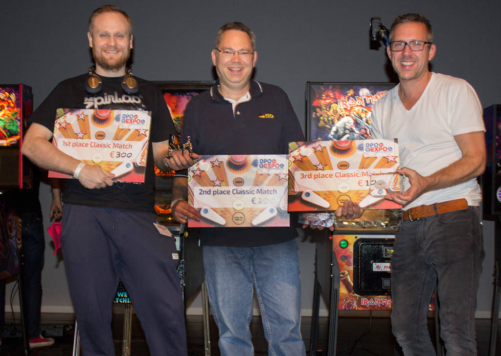 The top three in the Classic Tournament - Peter Andersen (1st), Torsten Eid (2nd) & Taco Wouters (3rd)
