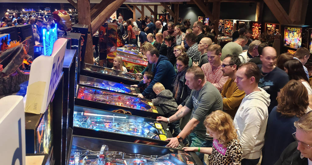 The free play machines got pretty busy during both days