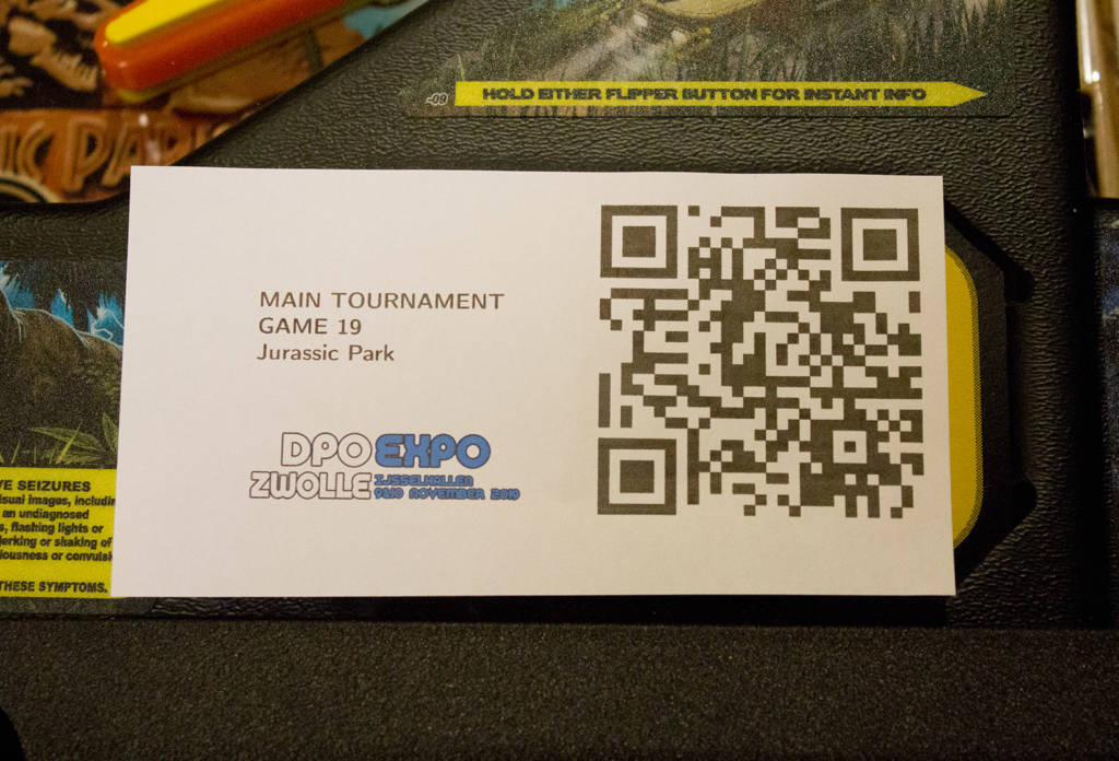 One of the QR codes on the DPO machines