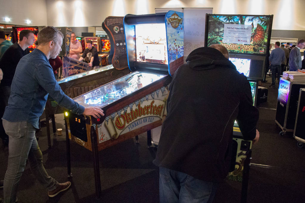 Some of the machines brought by Pinball Universe