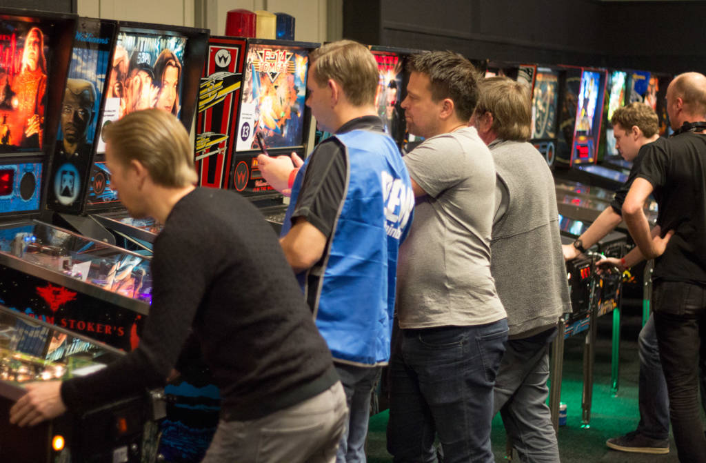 The qualifying round of the Dutch Pinball Open