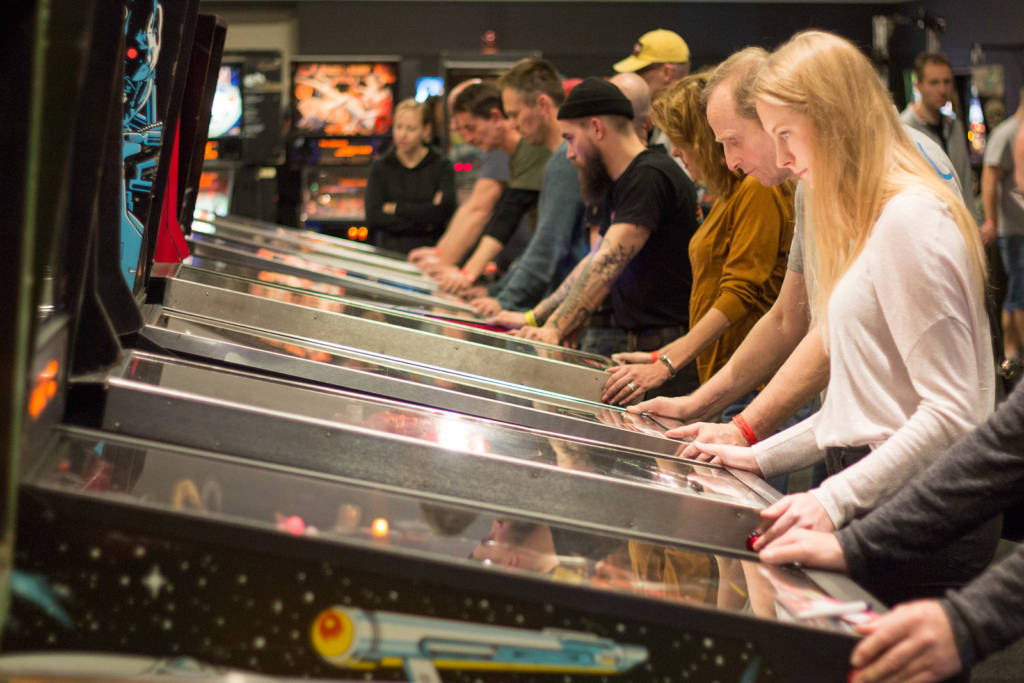 The machines were busy all weekend but you could usually find one to play easily enough