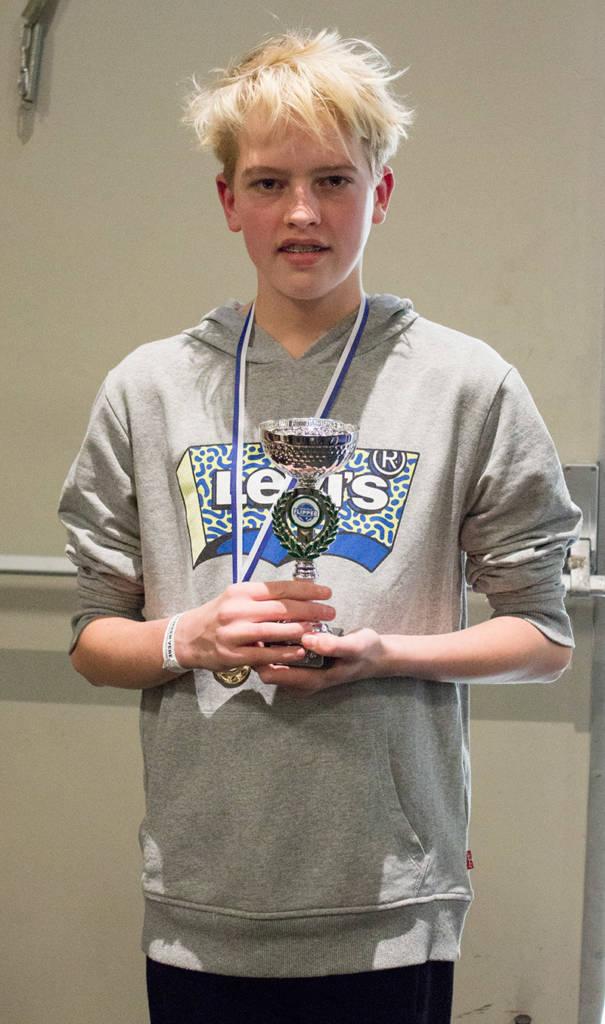 The winner of the 12-15s division, Niek van der Vorden