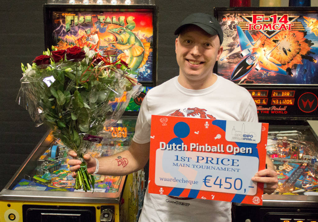 Winner of the Dutch Pinball Open 2019, Roy Wils