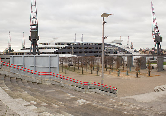 Excel was also hosting the London Boat Show, as you can see by this rather large vessel