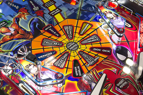 It was nice to see a shiny Spider-Man playfield