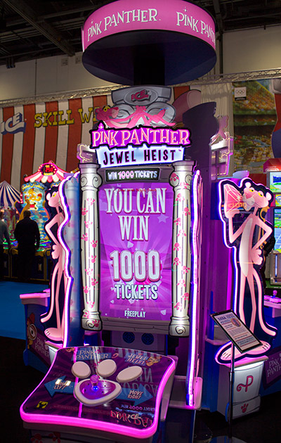 Pink Panther Jewel Heist appeared on several stands