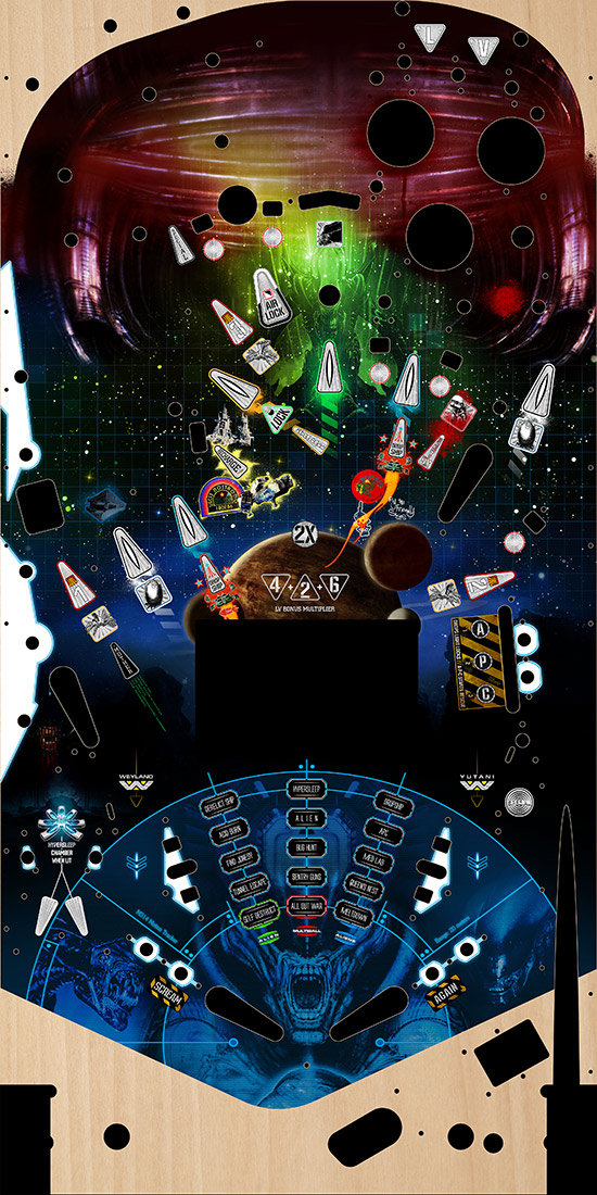 Alien playfield artwork